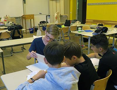 Schüler der achten Klasse im Juli 2017